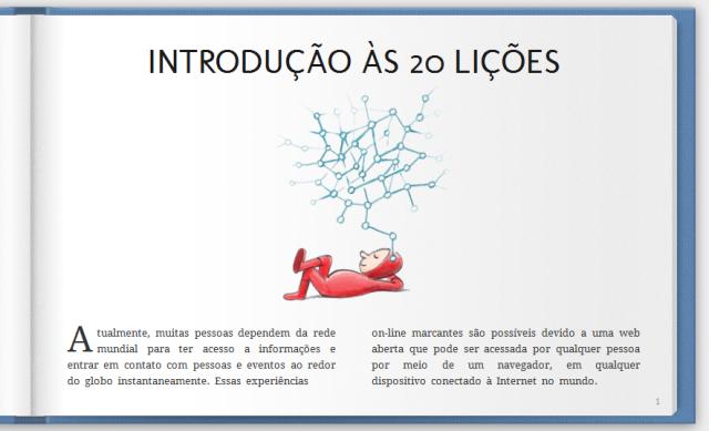 20 licoes Google lança livro online sobre navegadores e internet