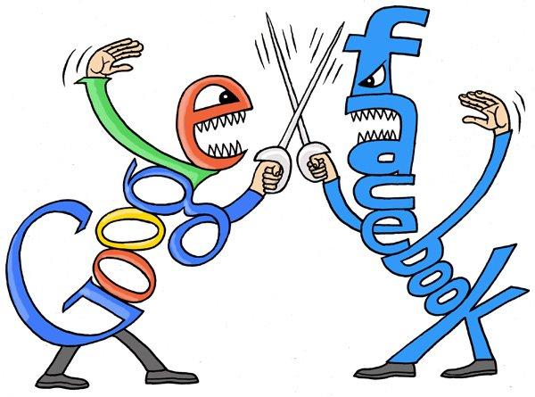 GoogleFacebook Google alerta para prisão de dados no Facebook