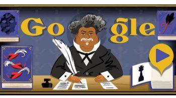 Alexandre Dumas é homenageado com Doodle