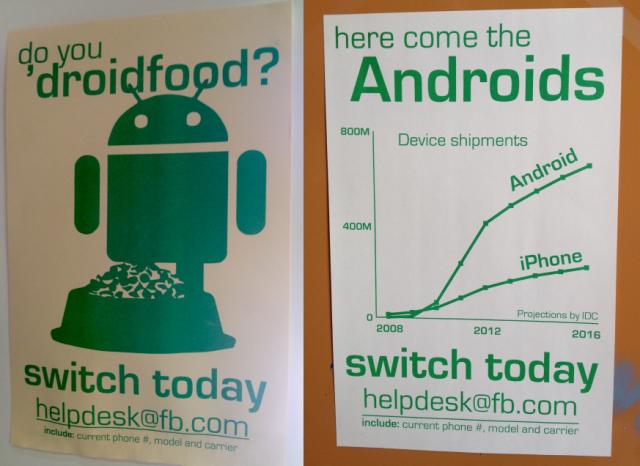 android facebook e1354210908200 Droidfood: Facebook pede para que funcionários usem Android