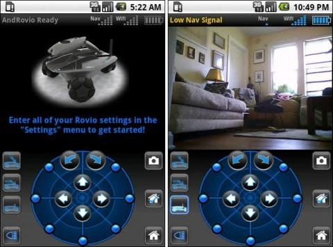 androvio Controle o Robô Rovio com um Android Phone