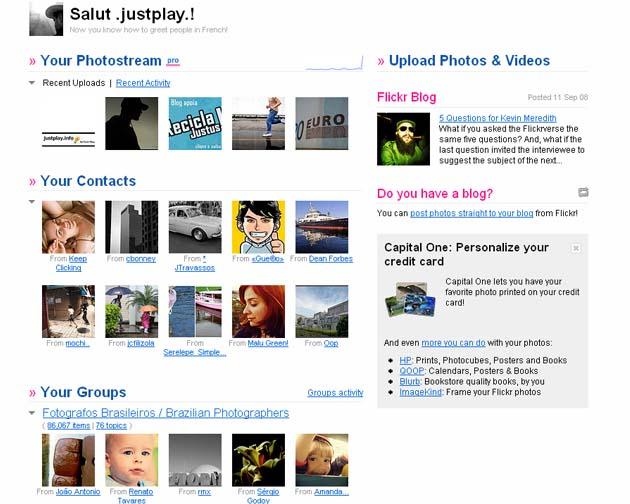 Flickr ganha nova homepage