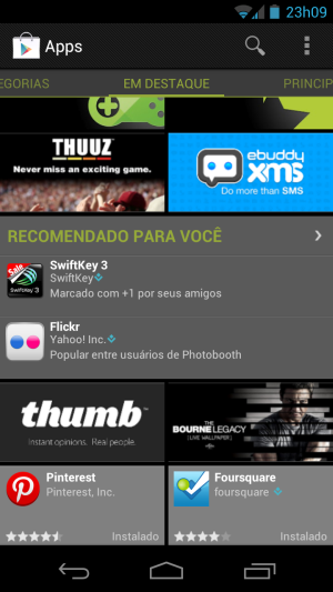 apps play Recomendação de aplicativos no Google Play
