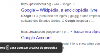 Novo atalho de teclado ajuda editar consultas de pesquisa no Google