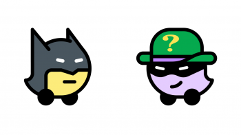 Waze ganha vozes do Batman e Charada; e ícone de Batmóvel