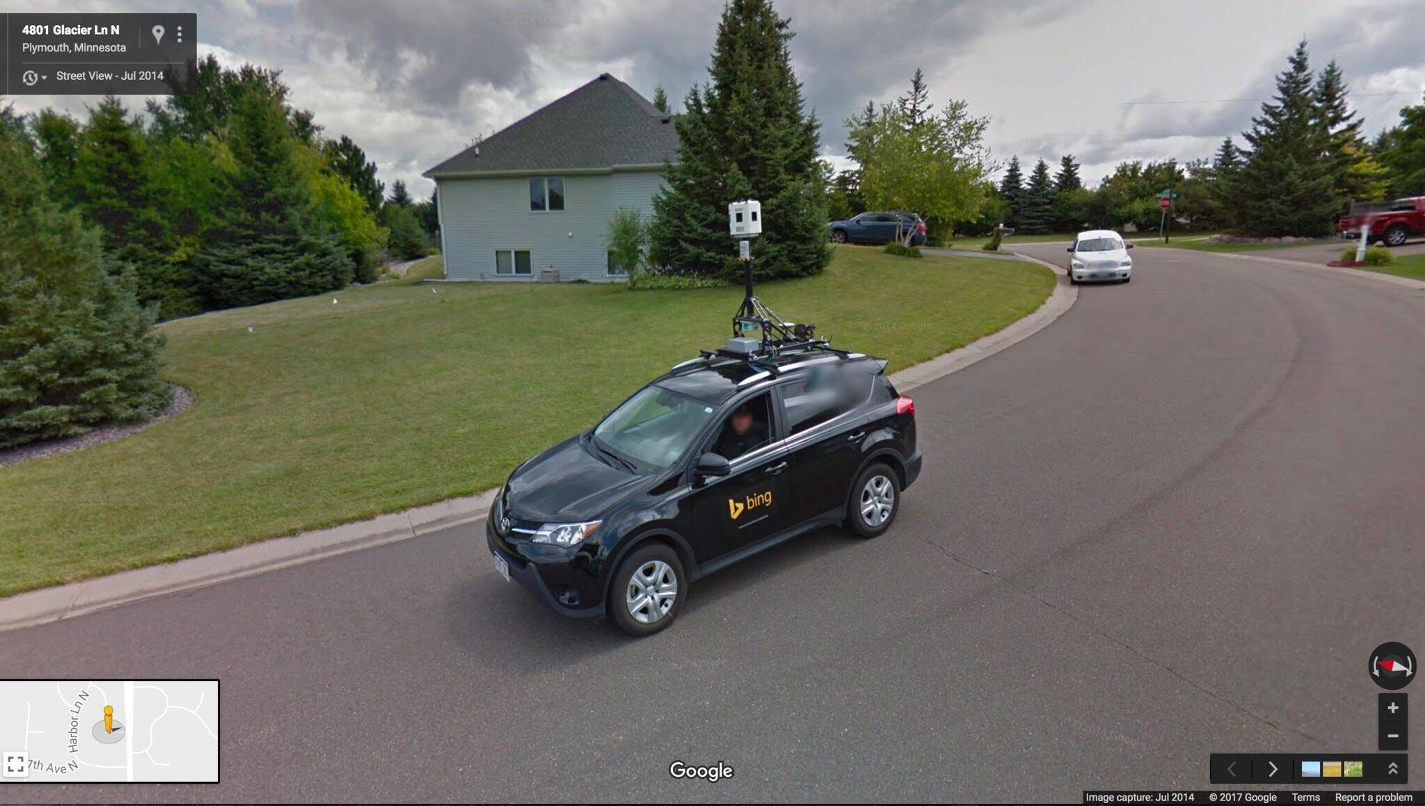 Google Street View registra imagens do Bing Streetside (e vice-versa)