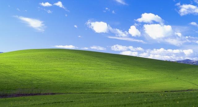 bliss Google Street View exibe a famosa paisagem do Windows XP