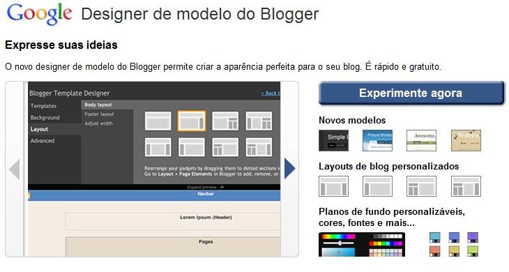 blogger designer modelo Blogger completa 11 anos com novidades