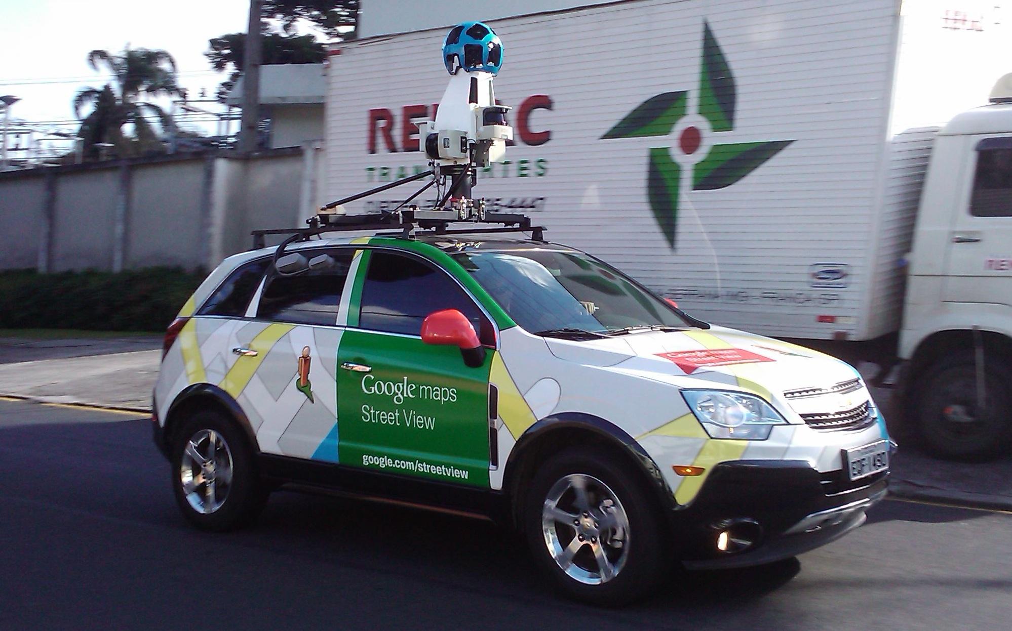 Foto: Novo visual do carro do Street View no Brasil