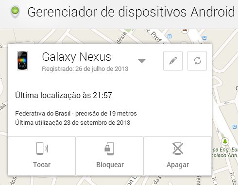 device manager1 Android Device Manager ganha nova opção de bloquear aparelhos