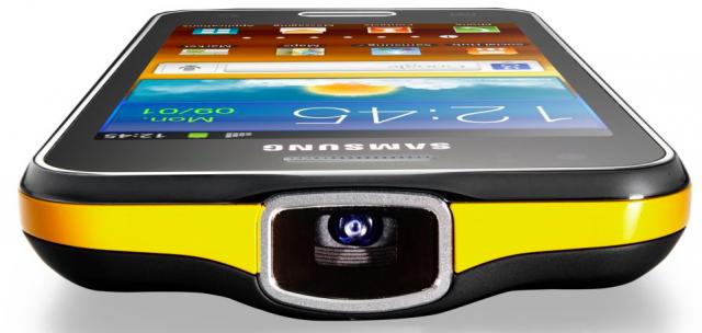 galaxy beam e1330391916114 Galaxy Beam, o Android da Samsung com projetor HD