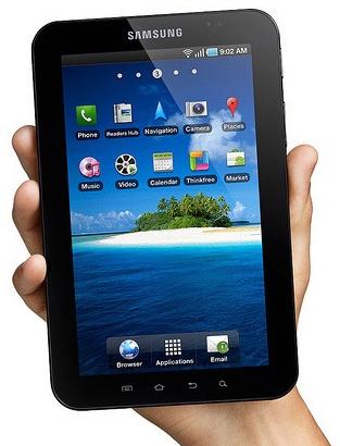 galaxy tab Samsung Galaxy Tab com Android chega ao Brasil