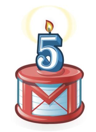 gmail5anos Google celebra 5 anos do Gmail