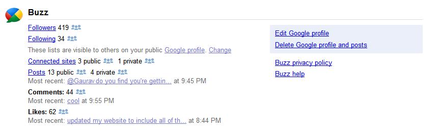 gmail buzz dashboard 5 dicas para melhor aproveitar o Google Buzz