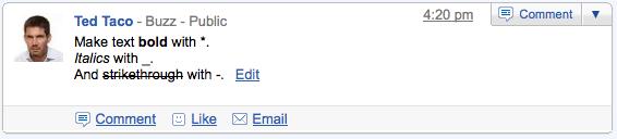 gmail buzz formatting 5 dicas para melhor aproveitar o Google Buzz