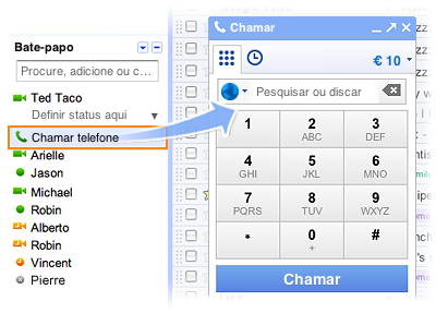 gmail call phones Chamadas telefônicas no Gmail chega ao Brasil