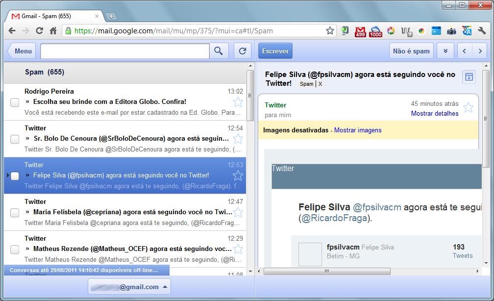 gmail offline leitura Gmail, Google Docs e Calendar ganham versões offline
