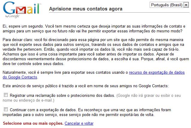 google dados facebook Google alerta para prisão de dados no Facebook