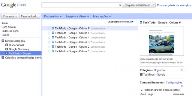 Google Docs Novo
