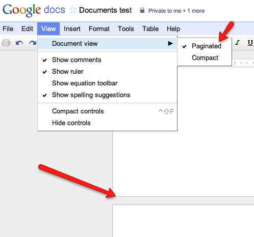 how to change page to landscape in google docs