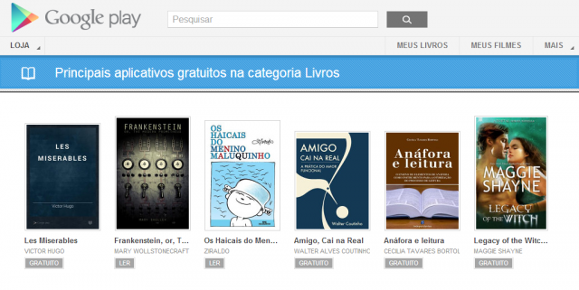 google play free e1362512056663 Livros gratuitos no Google Play