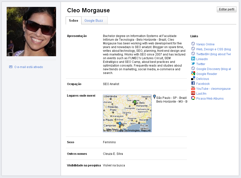google profile nova interface Google Profiles de cara nova