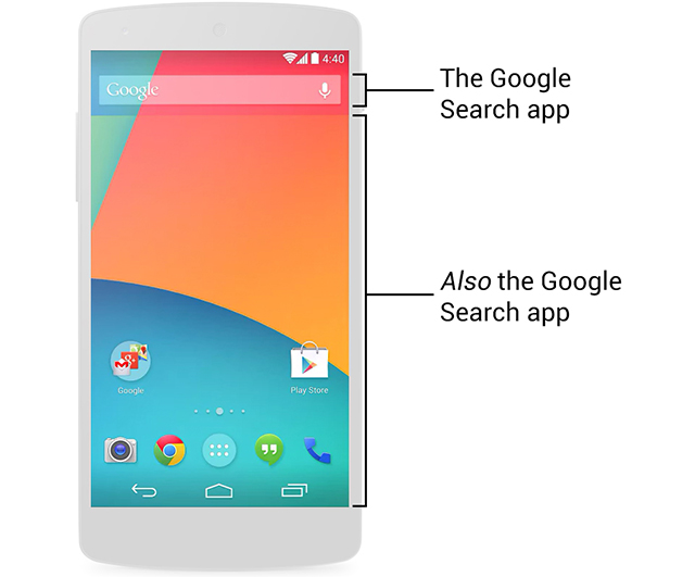 how to do a search on android