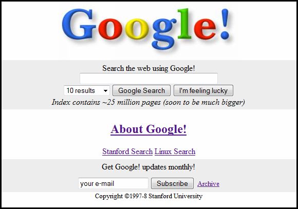 Google em 1998