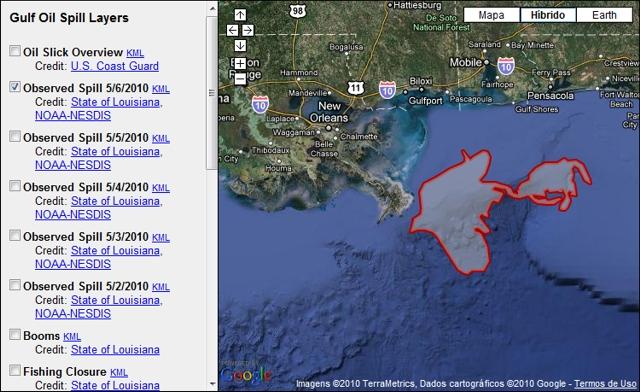 google crisis responde oil spill Google cria página sobre desastre ambiental nos EUA