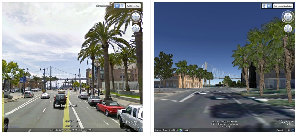google earth street view 3d Street View, Árvores e Oceano no Google Earth