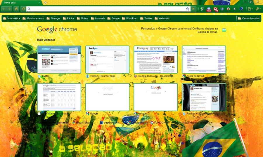 google fifa chrome tema - Google entra com tudo na Copa do Mundo