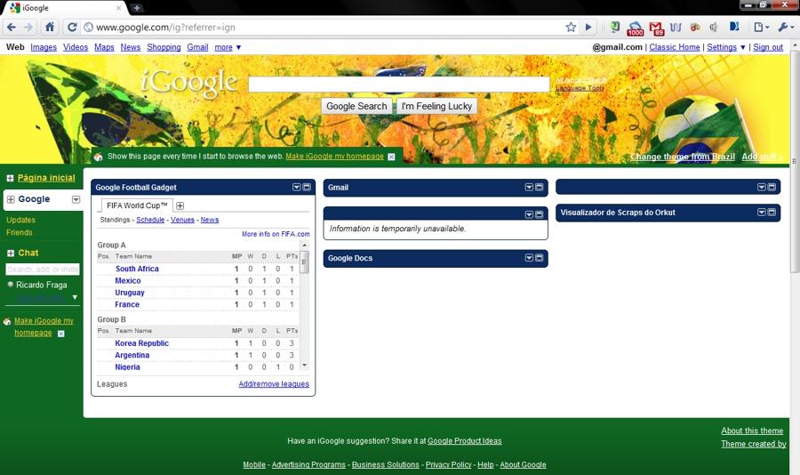 google fifa igoogle - Google entra com tudo na Copa do Mundo