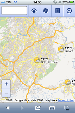 google mapas previsao tempo mobile Google Maps ganha camada com previsão do tempo