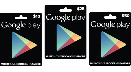 google play giftcards Google Play terá gift cards no Brasil