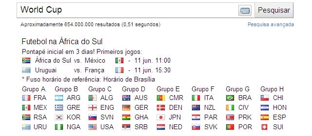 google search copa 1 Google Search entra no clima da Copa do Mundo