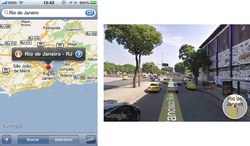 google street view iphone view brasil j 225 pode ser visto no iphone 2942