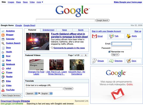 googlely Como seria o Google com o layout do Yahoo!?