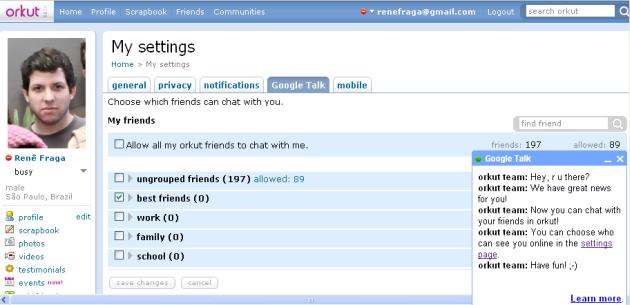 Google Talk Orkut 2