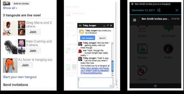 hangouts mudancas e1323916215392 Google anuncia novidades nos Hangouts do Google+