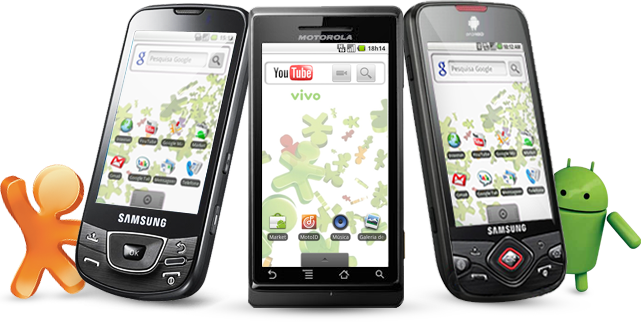 img aparelhos - Motorola Milestone/Droid e outros celulares Android já disponíveis na Vivo