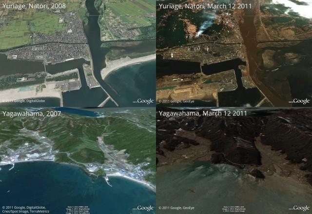 japao tsunami e1300119412365 Google atualiza imagens de áreas afetadas no Japão