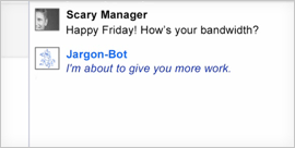 Jargon chat