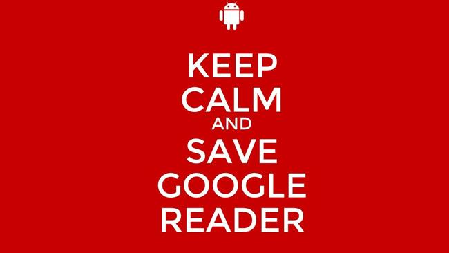 Keep calm and save Google Reader