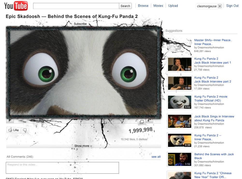 Intervenção Kung Fu Panda 2 no YouTube