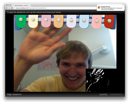 magic xylophone Chrome Beta traz nova API para suporte a webcam e microfone