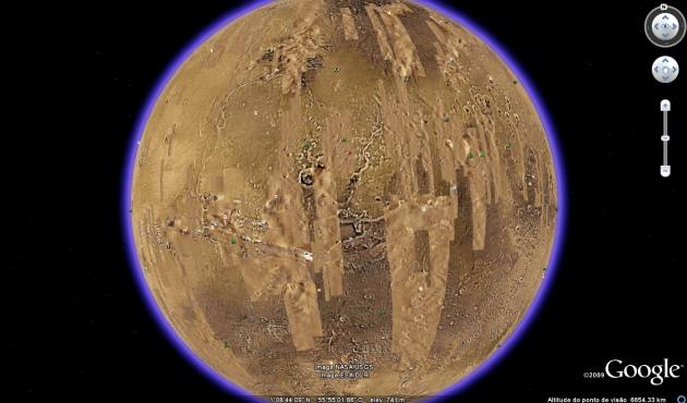 marteearth5 Google Earth 5: Explore também o planeta Marte!