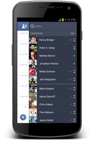 messenger e1348260758264 Facebook redesenha Messenger para Android