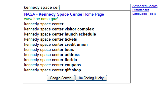 navigational suggestion Google Search amplia a usabilidade do Google Suggest