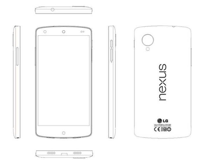 Surgem as especifica es t cnicas do lg nexus 5 google for Nexus 5 skin template