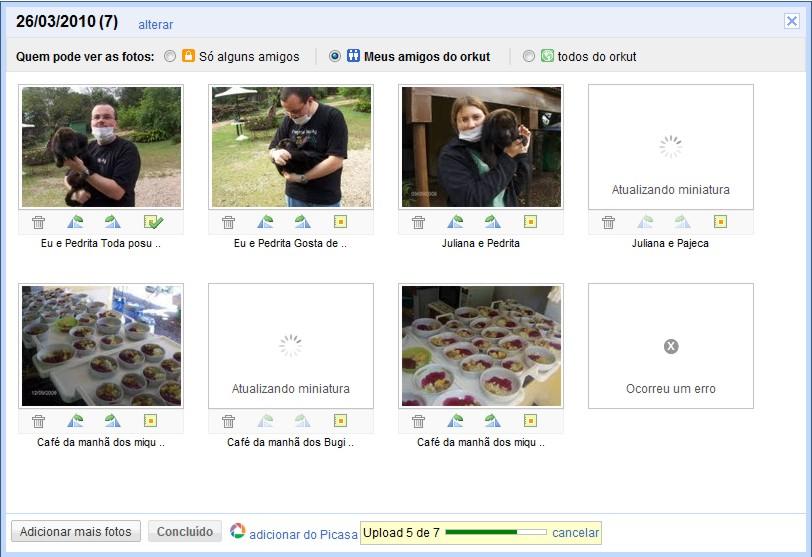 picasa web orkut 4 Orkut ganha importação de fotos do Picasa Web